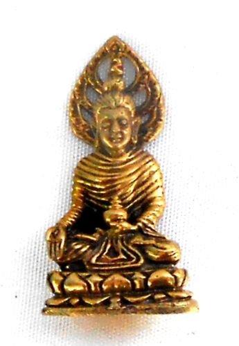 Buda figura latón 2,9x 1,4cm de Tailandia con Dharma