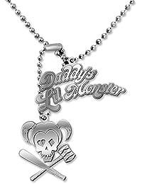 DC Comics Dog Tag Harley Quinn Daddy's Lil Monster, aus Metall silberfarben