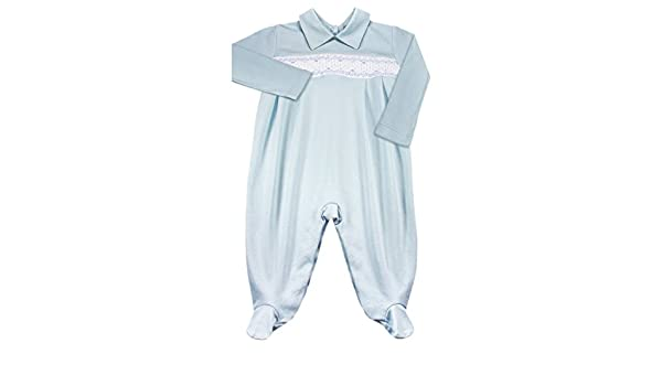 b03bf2edd Dakomoda Baby Boys  039  Smocked Organic Pima Cotton Overall Blue ...