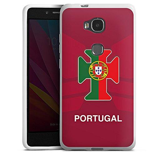 Huawei Honor 5X Hülle Silikon Case Schutz Cover Portugal EM Trikot Fußball Europameisterschaft