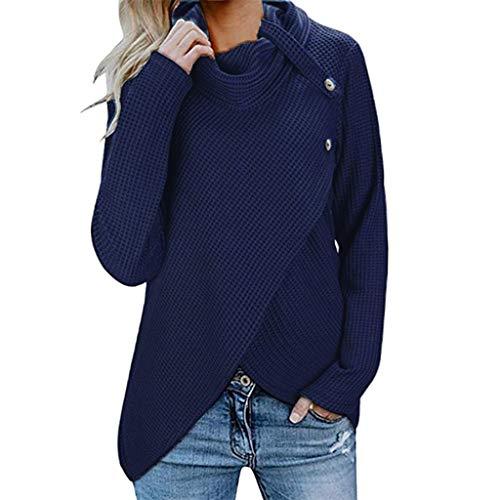 Jean Jacke Kostüm 80er Jahre - iHENGH Damen Herbst Winter Übergangs Warm Bequem Slim Lässig Stilvoll Frauen Langarm Solid Sweatshirt Pullover Tops Bluse Shirt