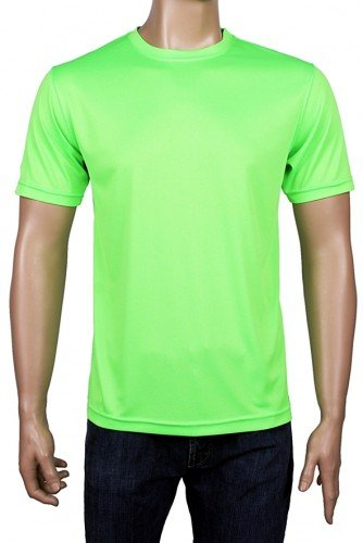 Coole-Fun-T-Shirts Laufshirt Neon Floureszierend, neongreen, L, FT96_neongreen_GR.L (Grünes T-shirt Cooles)