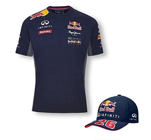 red-bull-racing-infiniti-equipe-formule-1-f1-t-shirt-pour-homme-kvyat-curve-peak-cap-taille-unique-b