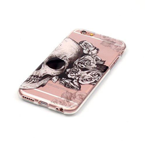 Pheant® Apple iPhone 6S/6 (4.7 pouces) Coque TPU Gel Étui Housse de Protection Transparent Cas(Chaussures) Plume Noir