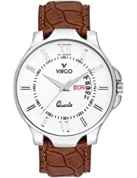 Virgo Pure White Dial Stainless Steel Day And Date Display Formal Or Casual Wear Analogue Watch For Men - VG-5020...