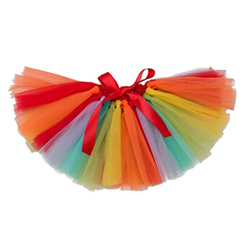 (Zhhlaixing Multi-color Stripes Party Princess Pettiskirts Kids Baby Mädchen Multi-layers tulle Dance Tutus Skirt)