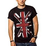 Vintage England T-Shirt Union Jack Flagge schwarz Männer XXL