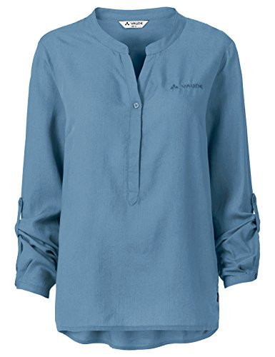 Vaude Damen Atena LS Shirt Bluse, Foggy Blue, 42