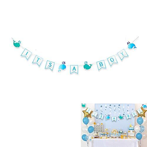 -Dekor-Flagge Brief Banner Girlande Party Neugeborenes Baby-Feier Geburtstag Dekor Lieferungen Gender-deko Für Partydekoration Banner Blue ()