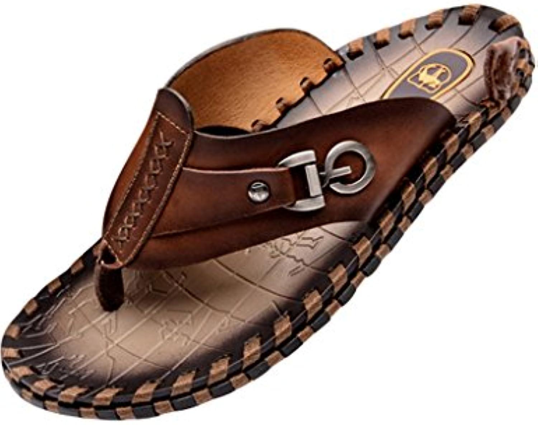 Youlee Hombres Verano Playa Zapatos Cuero Zapatillas