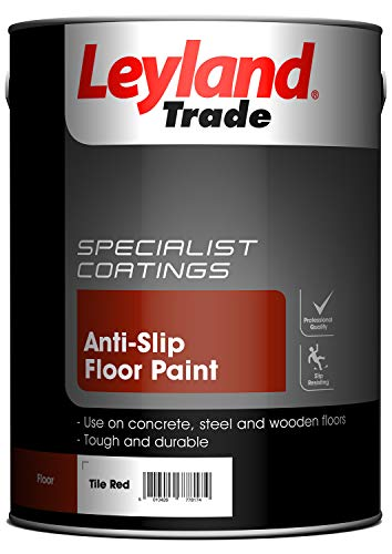 Leyland Specialty 308456 - Anti-slip floor paint, red tile color, 5 units