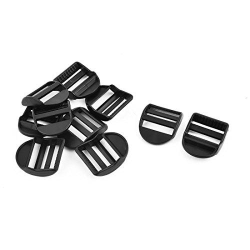 10Stk Plastik Einstellbar Gurt Verbindungsverschluss Schnallen 32mm Bügel Breite