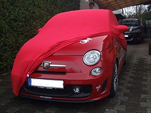 AMS Vollgarage Mikrokontur® Rot mit Spiegeltaschen für FIAT 500 neu