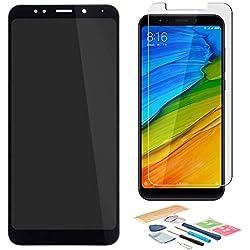 Pantalla LCD Táctil Asamblea Repuesto Compatible con Redmi 5 Plus Negro con Herramientas + Película Templada Redmi 5 Plus + Adhesivo 3M