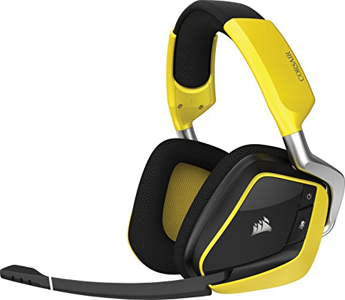 Corsair VOID PRO RGB WIRELESS Spécial Edition Casque Gaming (PC, Sans Fil, Dolby 7.1) Jaune/Noir