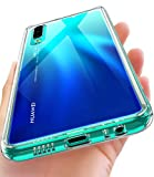 OCYCLONE Huawei P30 Hülle, [Gehärtetes Glas Rückseite] Hybrid Crystal Clear mit Soft TPU Bumper Transparent Dünn Slim DurchsichtigeSchützhülle für Huawei P30 - Klar
