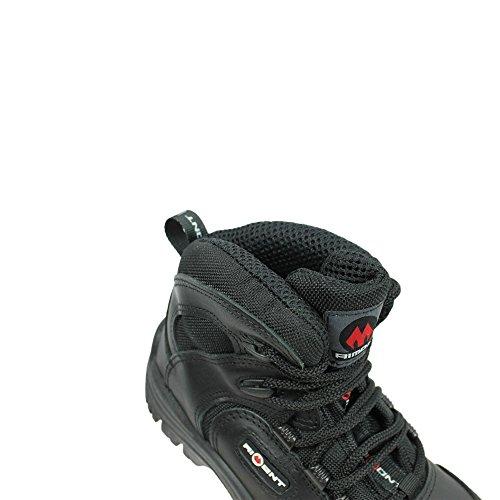 Aimont wing s3 berufsschuhe businessschuhe chaussures de chaussures de sécurité chaussures de travail noir Noir - Noir