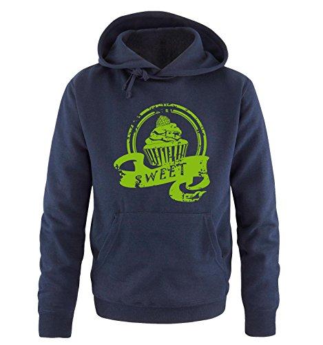 Comedy Shirts -  Felpa con cappuccio  - Maniche lunghe  - Uomo Navy / Green
