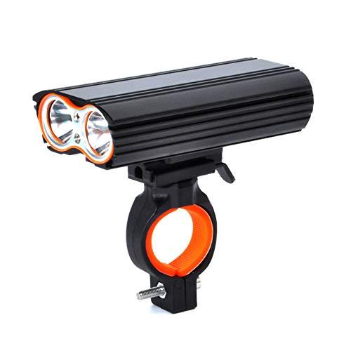 Fahrradscheinwerfer Außenreitklammer Licht, USB Wiederaufladbar 4 Modi Zoom Dimmen Tief Wasserdicht, Doppel T6 super helle Lampe perlen L105 * W50 * H26mm