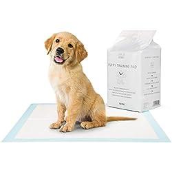 EVERANIMALS 60x60cm Extra Saugstarke Welpenunterlage | Hundeklo | Pads Für Hundeerziehung, Welpenerziehung | Trainingsunterlagen Um Hunde und Welpen Stubenrein Zu Trainieren | Welpenunterlagen (100)