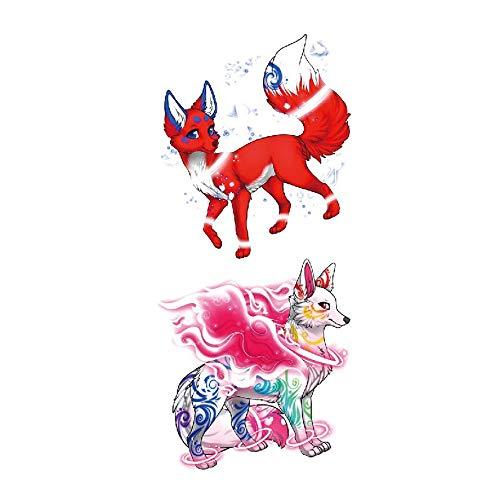 adgkitb Meerjungfrau wasserdicht Tattoo Aufkleber Prinzessin Magie Fee Kinder Cartoon Farbe Aufkleber 27 9.8x19cm