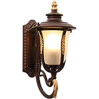 Rishx Lámpara de Pared Impermeable Libre Europea Exterior de Aluminio Profesional Calidad iluminación Iluminación Impermeable E27
