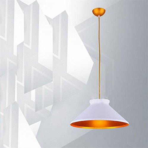 Lh&Fh Amerikanische Indusrial Loft Beleuchtung Lampe Deckel Form Einzelne Weinlese-Anhänger-Licht für Bar-Café-Kronleuchter, white, large -