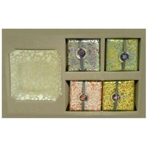 WMU Fringe Soap Set Lemon Verbena Scent with Glass Tray by WMU
