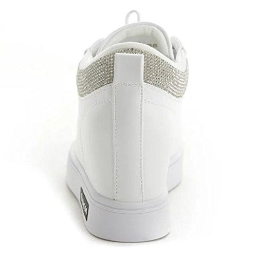 Branco Baixo Sapatas Sneaker Sapatos Desportivo Weiß schuhe Calcanhar Freizeitschuhe Sportliche Low Cunha Senhoras top Tênis Das Keilabsatz top Damen Casuais qZExFnHF
