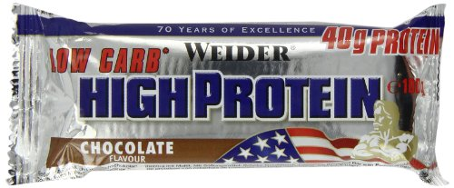 Weider Low Carb High Protein Bar, Schoko, 2 x 100 g (1 x 200 g)