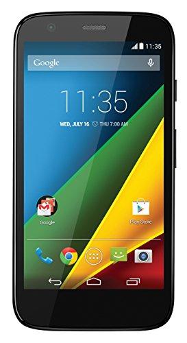 MOTOROLA MOTO G 4G - SMARTPHONE LIBRE (PANTALLA 4 5  4G  CAMARA 5 MP  8 GB  QUAD-CORE 1 2 GHZ  1 GB RAM  ANDROID 4 4 3)  NEGRO
