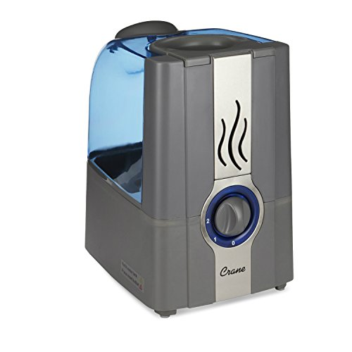 CRANE USA EE-5201GR Slate Blue Warm Mist Humidifier Clean Control, 1 gallon by Crane USA