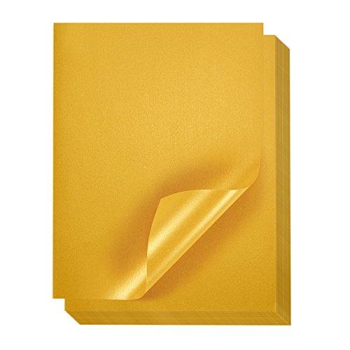 Gold Metallic Papier, 96PACK–Shimmer Papier–Doppelseitig–Laser Drucker freundlich–Perfekt für Hochzeiten, Baby Duschen, Geburtstage, Craft Verwenden, 21,6x 27,9cm Buchstabe Größe Blatt