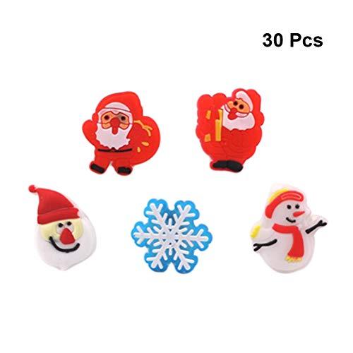LED leuchten blinkende Ringe Weihnachtsmann Schneemann Schneeflocke Form Weihnachten Spielzeug für Kinder Weihnachten Urlaub Party Favors (Zufällige Muster) ()