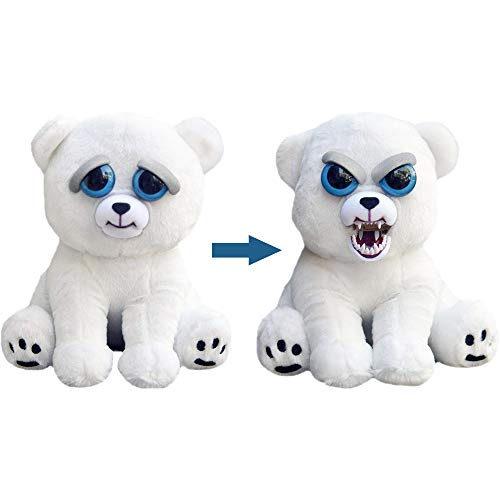 Bnzcity Feisty Pets Funny Change Gesicht Plüschtiere mit lustigen Ausdruck Stofftier Puppe für Kinder Cute Streich Spielzeug Weihnachten Feisty Haustier Geschenk für Kinder (Karl The Snarl) (Pet-spielzeug-plüschtiere)
