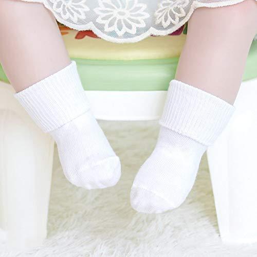 Odster - Cotton Babysocken Süßigkeit-Farben-Antirutsch-Socken Neugeborenes Kleinkind-Baby-Jungen-Socken für 1-3 Jahre Kinder neugeborene Baby-Socken [0To1 Jahre Weiß]