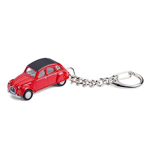 Llavero con coche en miniatura, Citroën 2CV rot, 1:87