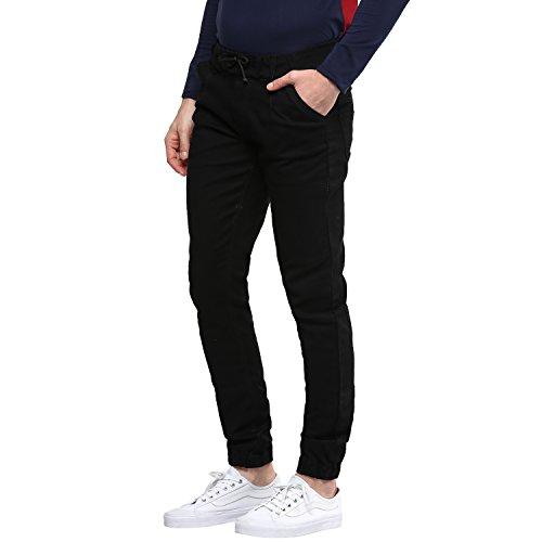 Urbano-Fashion-Mens-Black-Slim-Fit-Stretch-Jogger-Jeans