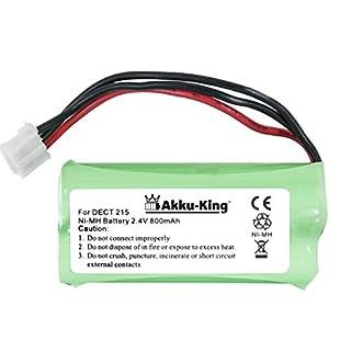 Akku-King Battery for Philips DECT 211, 215, 221, KALA 300, XALIO 300 - replaces 2HR-AAAU, H-AAA600X2 - Ni-MH 800mAh
