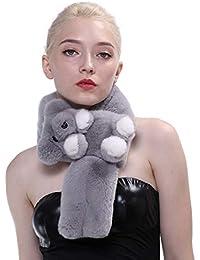 f3a1a108e572 Creatif Cadeau pour Jeune Femme Bonnet avec Longue Écharpe Gants Doté Les  Oreilles du Lapin en