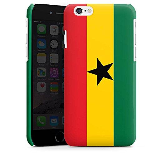 Apple iPhone 5s Housse Étui Protection Coque Ghana Drapeau Ballon de football Cas Premium brillant