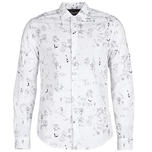 Desigual - Camisa EHUD Hombre Color: 1000 Talla: Size
