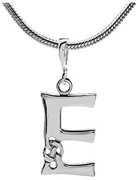 SILVEGO Keltischer Anhänger Buchstabe E Sterling Silber 925