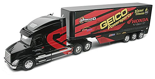 new-ray-ref-14263-vehicule-miniature-camion-volvo-vn780-geico-powersports-factory