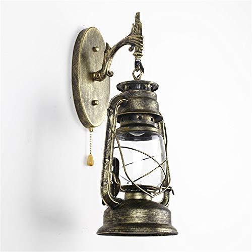 ese Retro Pferd Lampe Wandleuchte Mit Schalter Balkon Antike Petroleumlampe Led Industrie Wind, C ()