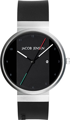 Jacob Jensen Unisex-Adult Analogue Quartz Watch with Rubber Strap JJ702