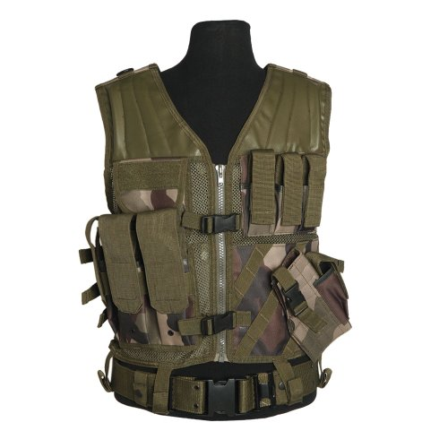 Mil Tec Usmc Quick Draw Tactical Vest French Cce Camo