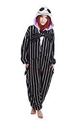BRLMALL Unisex Adult Pajamas Plush One Piece Cosplay Festival Kigrumi Costume