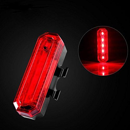 LHWY COB LED Fahrrad Radfahren Rücklicht USB wiederaufladbare 4 Modi (B) (Elektroschocker Tasche)
