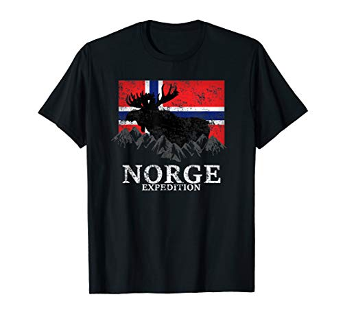Norwegen Expedition Berge Elch Flagge -